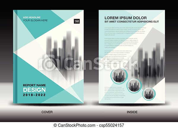 Annual Report Cover Design Brochure Flyer Template Business