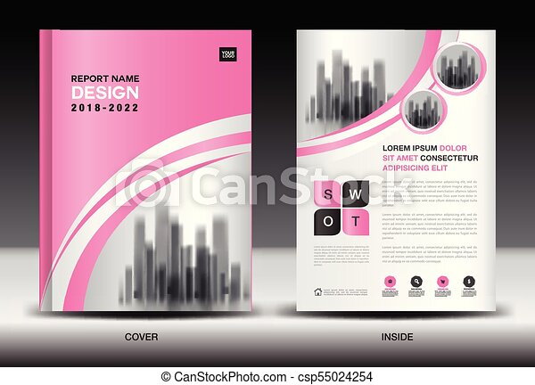 Annual Report Cover Design Brochure Flyer Template Clipart