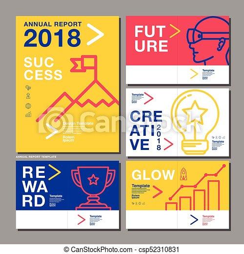 Annual report design template 2018, business company, vector ...