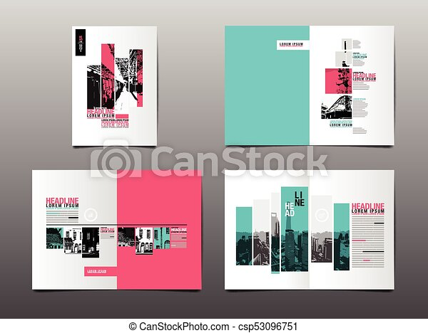 Annual Report Template Layout Design Cover Book Vector Clipart