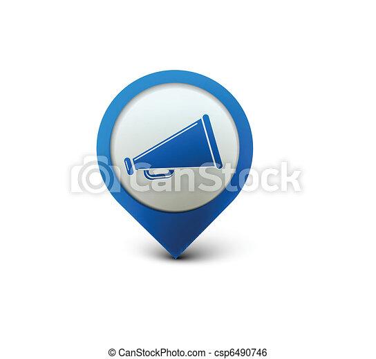 annuncio, icona - csp6490746