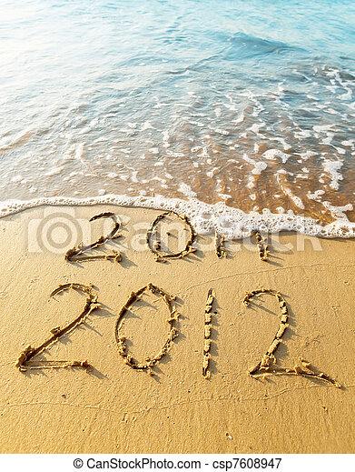 ano novo, 2012 - csp7608947