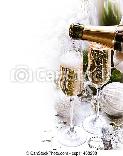ano novo, celebration.champagne - csp11468238