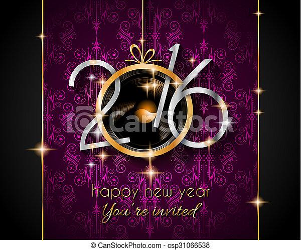 ano, voador, novo, partido, 2016, natal, feliz - csp31066538