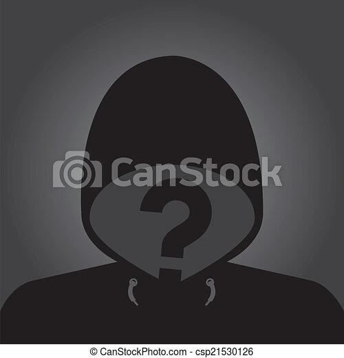 Anonymous avatar profile icon. Vector. - csp21530126