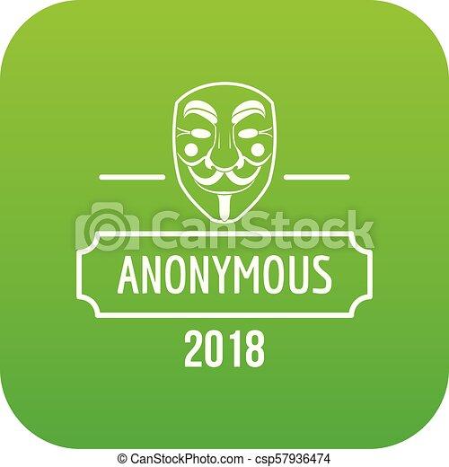 Anonymous icon green vector - csp57936474