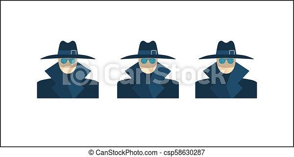 Anonymous Vector Icon - csp58630287