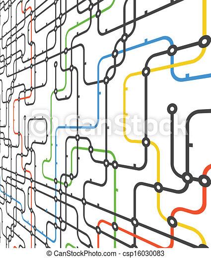 anschluss, abstrakt, schema, perspektive - csp16030083