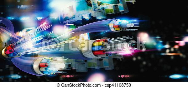 Verbindung mit der optischen Faser - csp41108750
