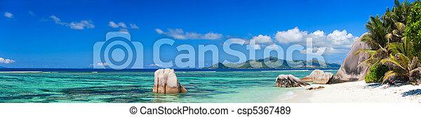 Anse Source d Argent beach - csp5367489