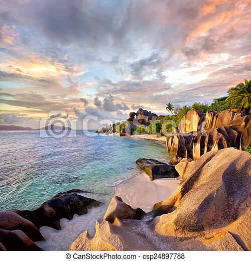 Anse Source d'Argent beach - csp24897788