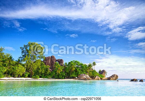 Anse Source d'Argent beach - csp22971056