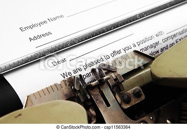 anstellung, form - csp11563364