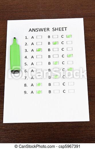 Answer sheet - csp5967391