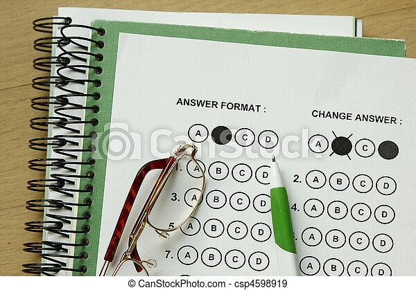 Answer Sheet - csp4598919