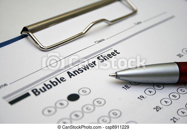 Answer sheet - csp8911229