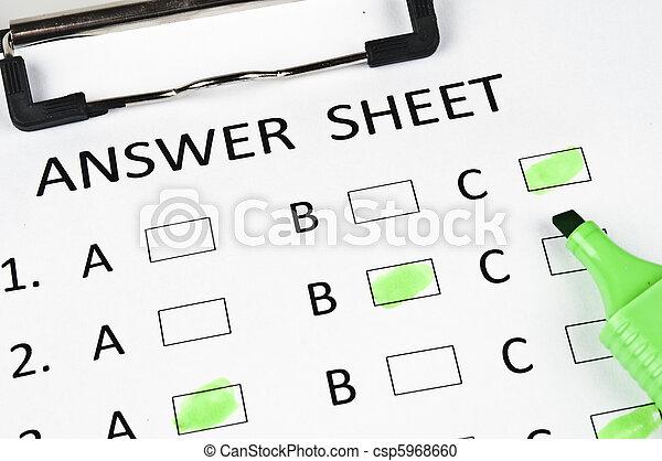 Answer sheet - csp5968660