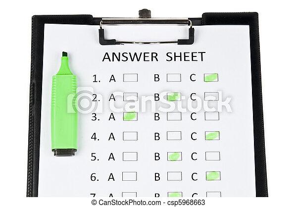 Answer sheet - csp5968663