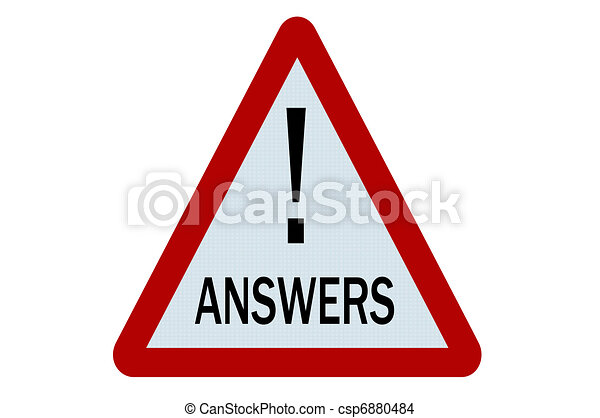 Answers sign - csp6880484