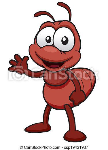Ant cartoon - csp19431937