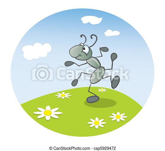 Ant dancing  - csp5929472