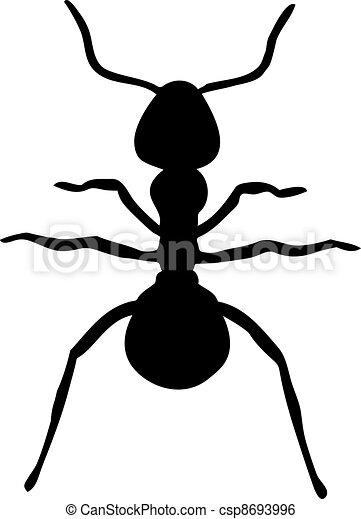Ant silhouette - csp8693996
