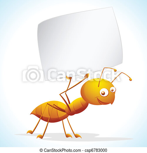Ant with Placard - csp6783000