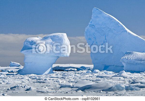 Antarctic glacier - csp8102661