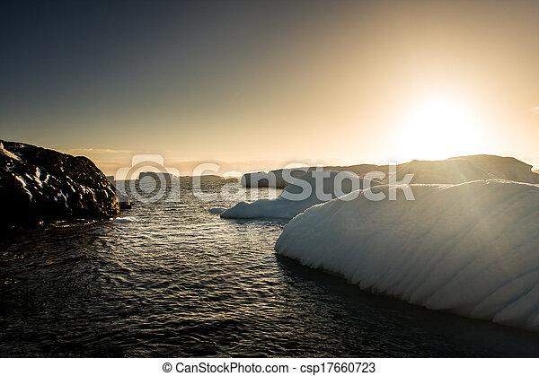 Antarctic glacier - csp17660723