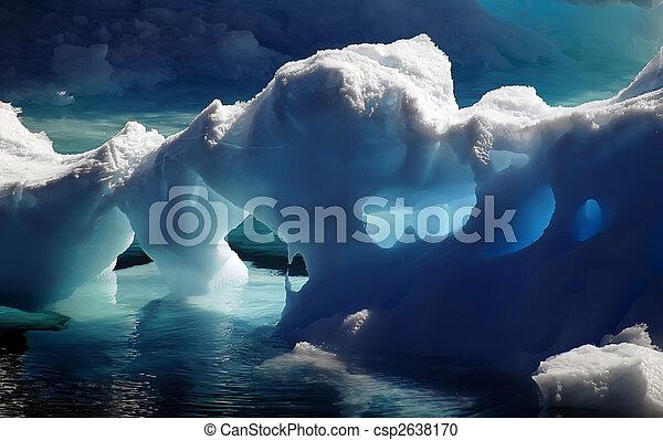 Antarctic ice caves - csp2638170