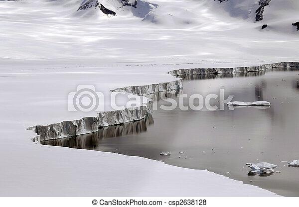Antarctic ice shelf edge - csp2638128