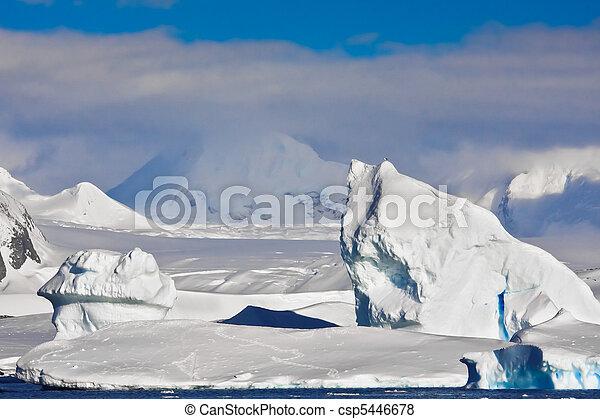 Antarctic iceberg - csp5446678