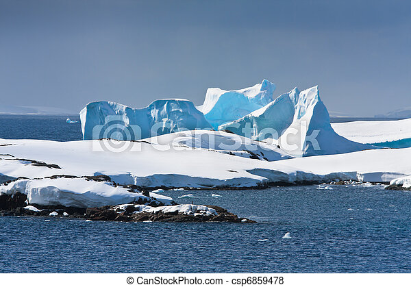 Antarctic iceberg - csp6859478