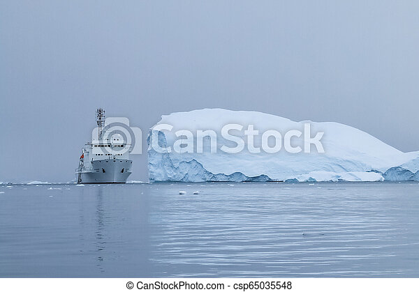 Antarctic icebergs in the waters of the ocean - csp65035548