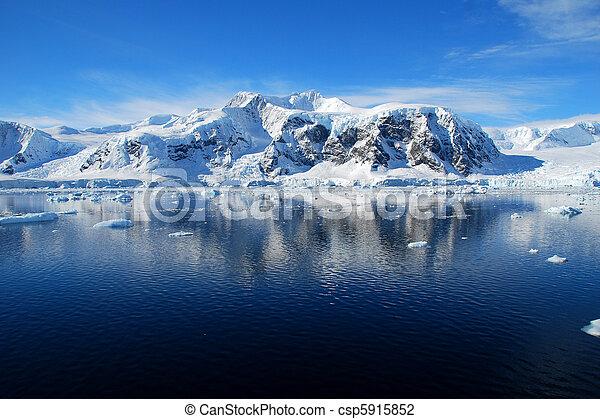 antarctic landscape, blue skies - csp5915852