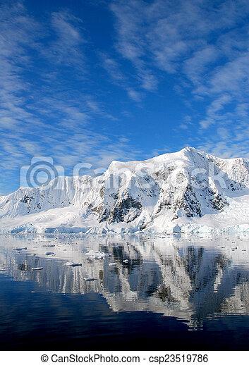 Antarctic landscape - csp23519786