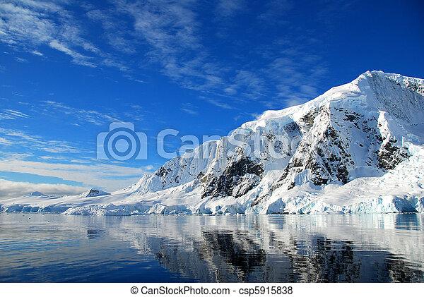 antarctic landscape - csp5915838