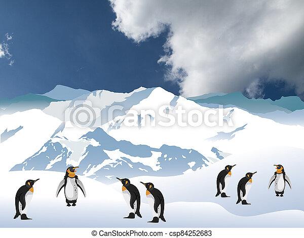 Antarctic penguins - csp84252683