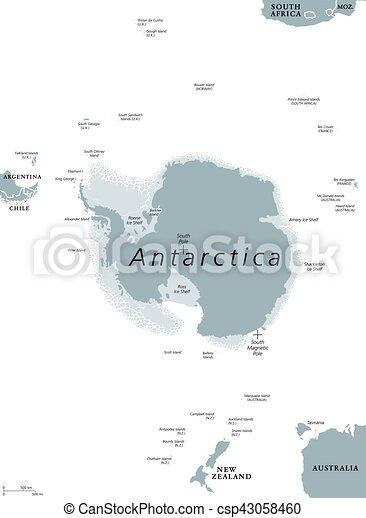 Antarctic Region Political Map Antarctica Political Map The