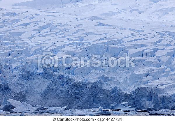 Antarctica landscape - glacier - csp14427734