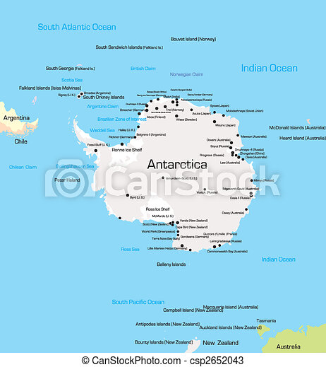 Antarctica map Color map of antarctica drawings Search Clipart