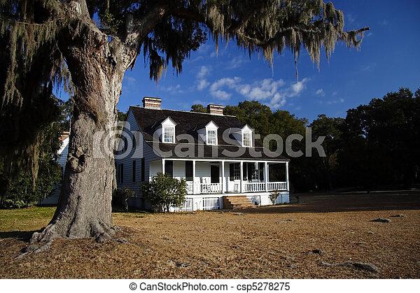 Antebellum Plantation Home - csp5278275