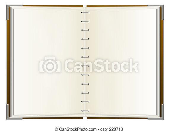 anteckningsbok, sidor, tom - csp1220713