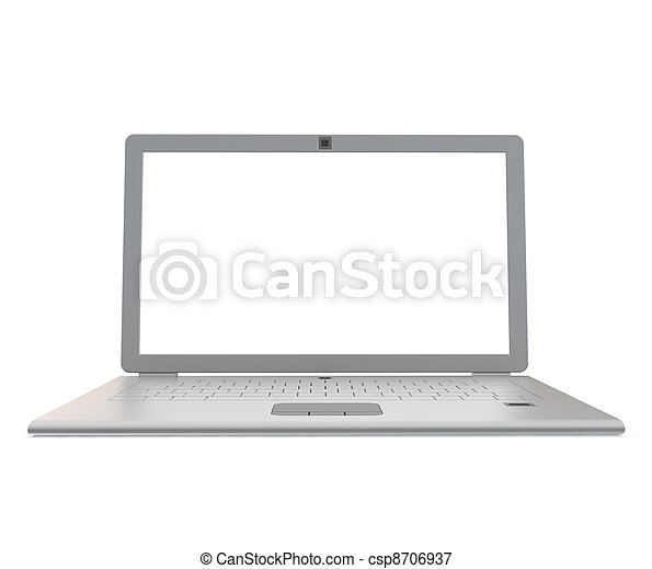 anteckningsbok, silver - csp8706937