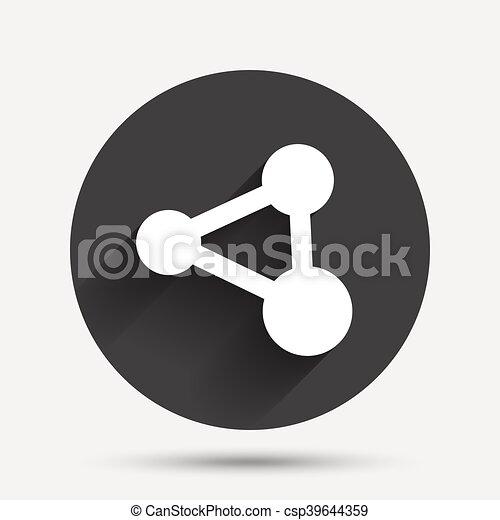 Anteil, symbol., zeichen, verbindung, icon., technologie. Wohnung ...