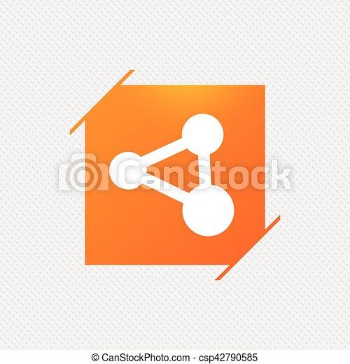Anteil, symbol., zeichen, verbindung, icon., technologie. Quadrat ...