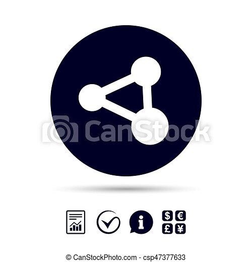 Anteil, symbol., zeichen, verbindung, icon., technologie ...