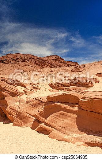 Antelope Canyon in Arizona. - csp25064935