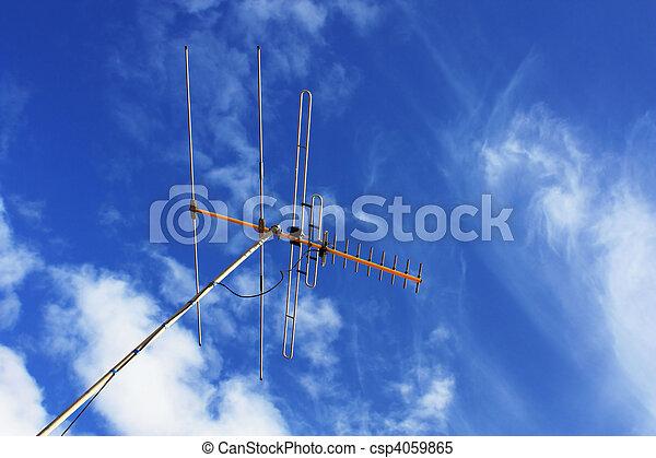 Televisión aérea - csp4059865