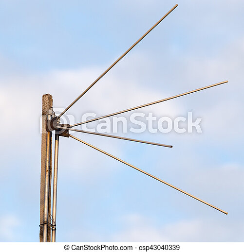 antenna on a background of blue sky - csp43040339